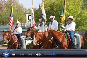 Twaine Harte Horsemen during Mother Lode Round-Up Parade Click for Video